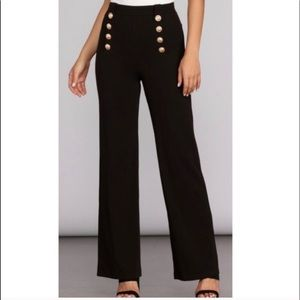 H&M High Waisted Sailor Style Flare Jeans Size 10